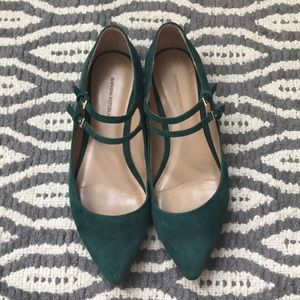 Banana Republic 8.5 Green Suede Flats